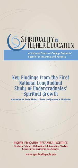 Key Findings From National Longitudinal >> Spirituality Higher Education